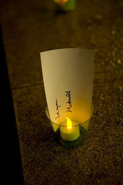 A candle for Laquan McDonald