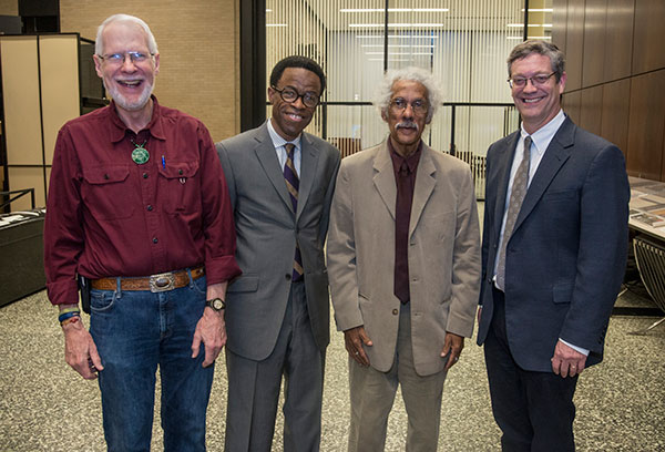 Lecturer Stanley McCracken, Associate Professor Waldo E. Johnson Jr., Albert J. Raboteau, and Dean Neil Guterman
