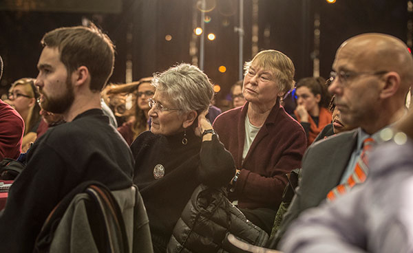 Audience members at the Academic Freedom and Diversity Panel Event