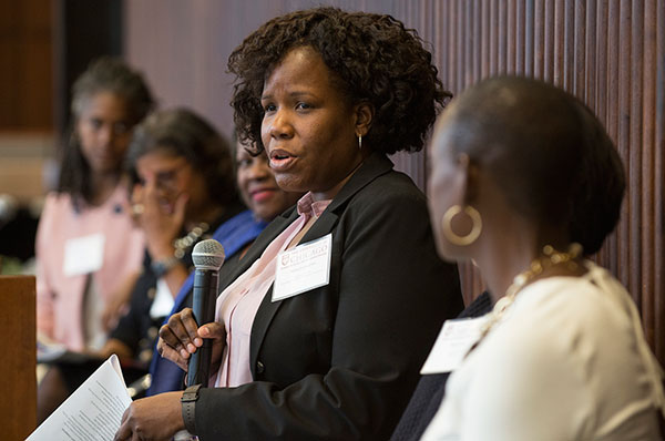 Panelist Nina Longino, Managing Director of the Woodlawn Children's Promise Community