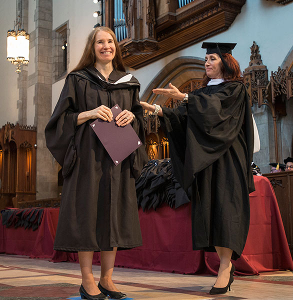 Graduate Therese Nelson receives the Sonia G. Berz Honor Award for outstanding work and promise in the field of aging
