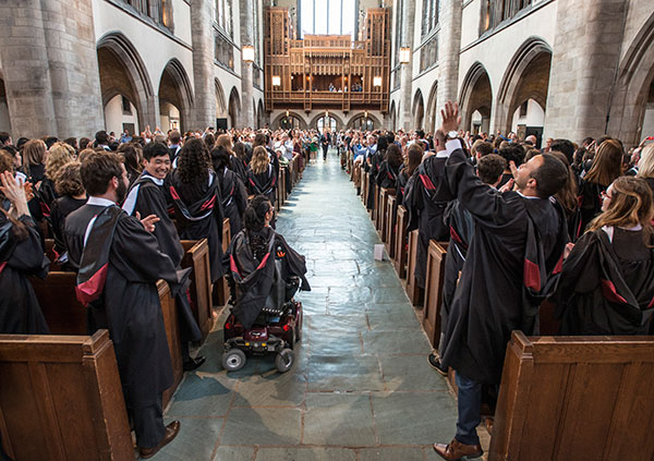 Graduation 2017 in Rockefeller Chapel