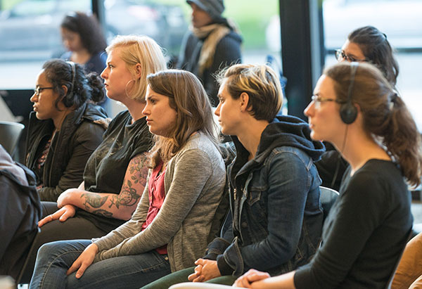 Audience members at Grief as Resistance event