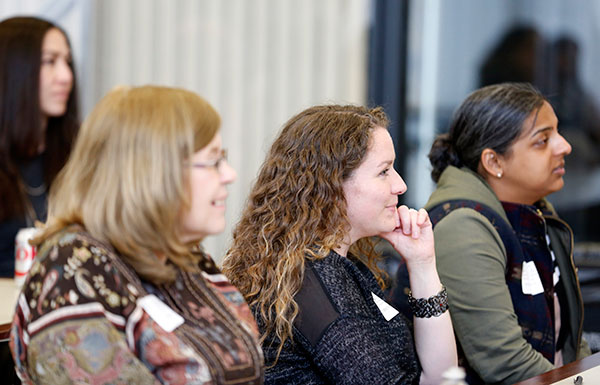Audience members at Steven C. Hayes' lecture