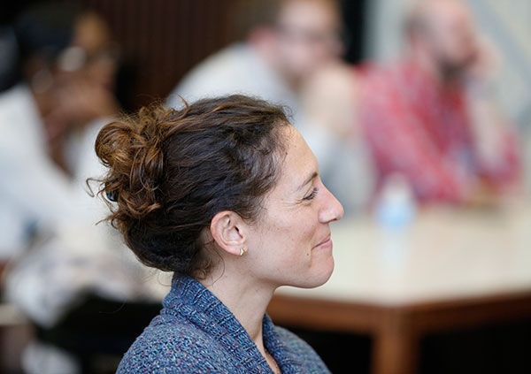 Audience member at Steven C. Hayes' lecture