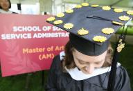 Master's student with a decorated cap