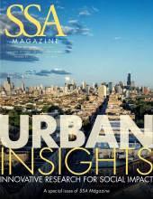 """SSA cover featuring a view of the Chicago skyline with title: """"Urban Insights."""""""