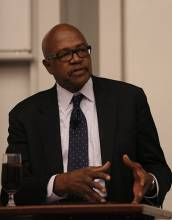 Professor Elijah Anderson discussed the 'White Space' and the Iconic Ghetto: Challenges for Civil Society