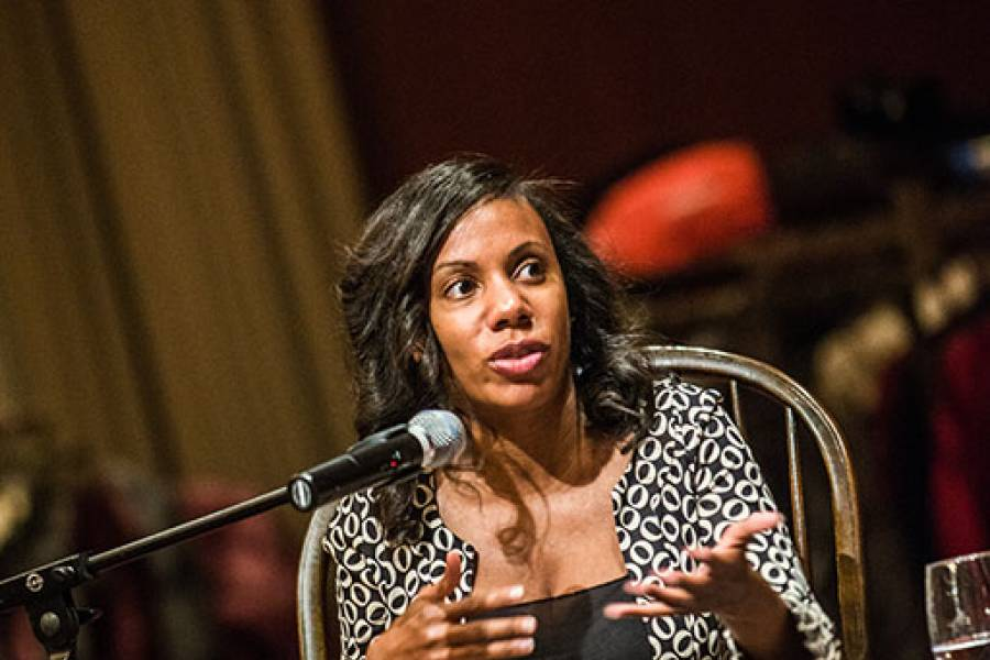 Moderator Natalie Moore from WBEZ