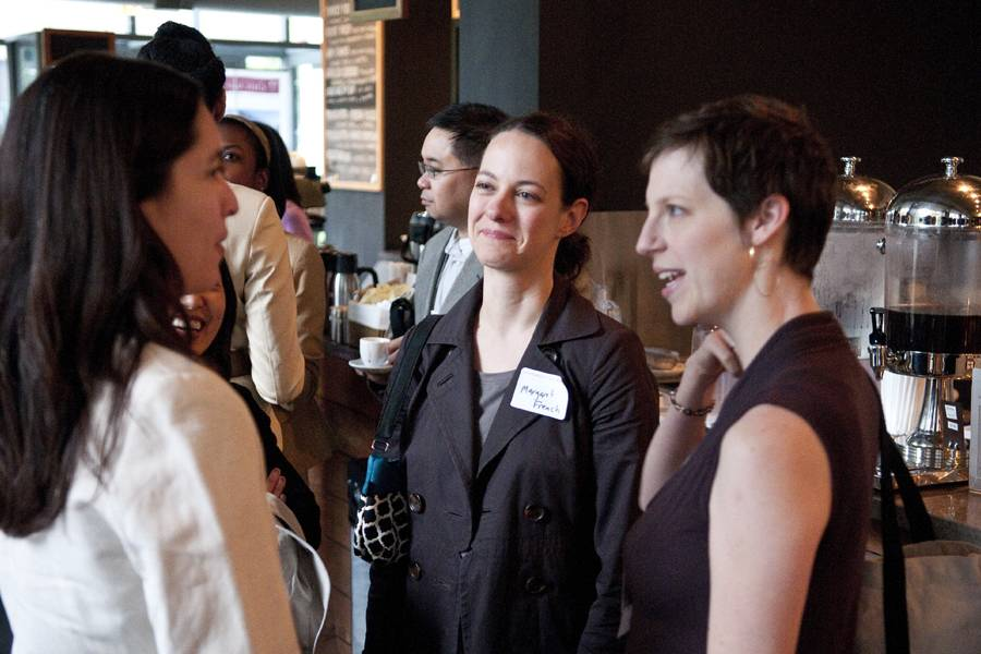 Networking at Little Branch Cafe