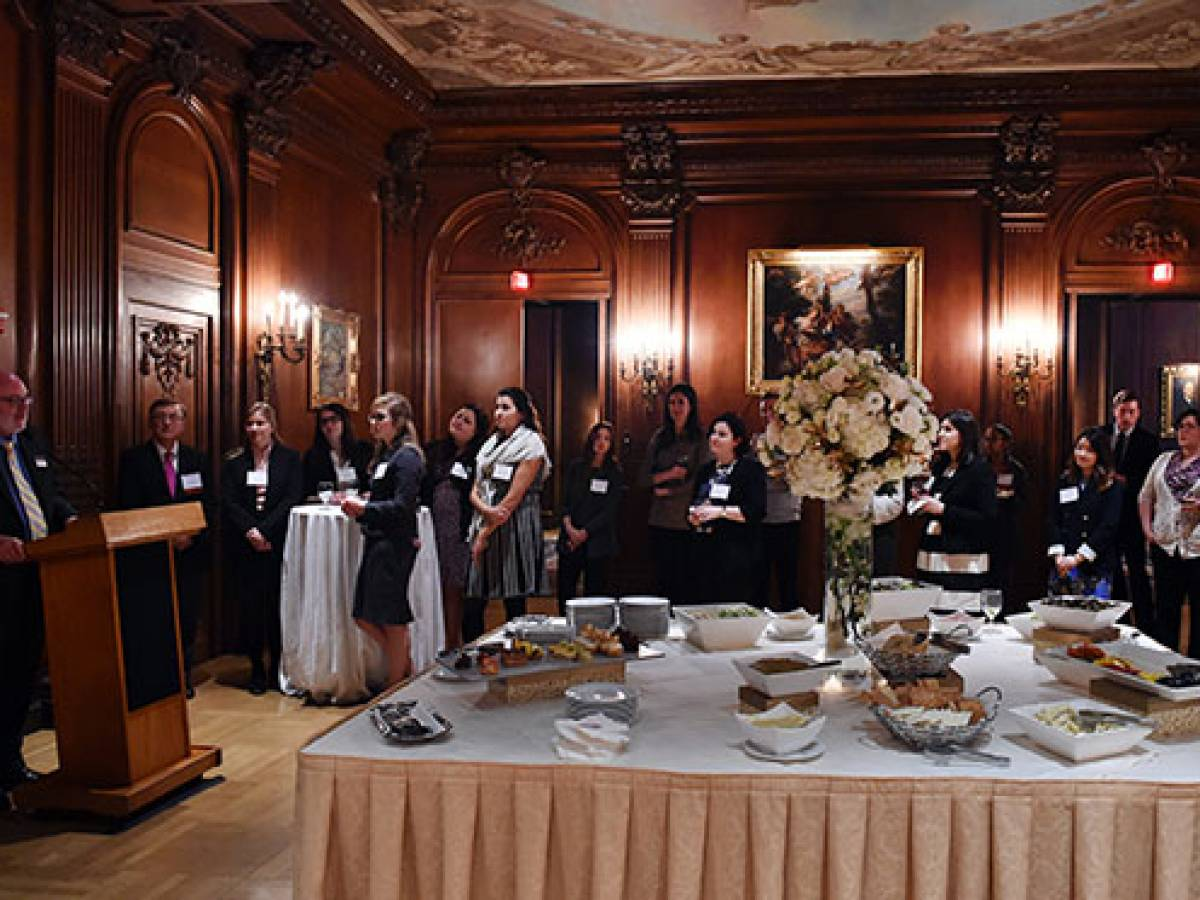 Student and alumni reception at the Cosmos Club