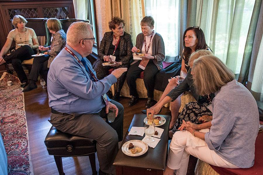 The Classes of 1968, 1969, 1978, and 1979 celebrated reunions with tea and treats