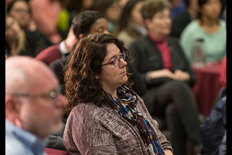 Assistant Professor Gina Fedock at the Academic Freedom and Diversity Panel Event