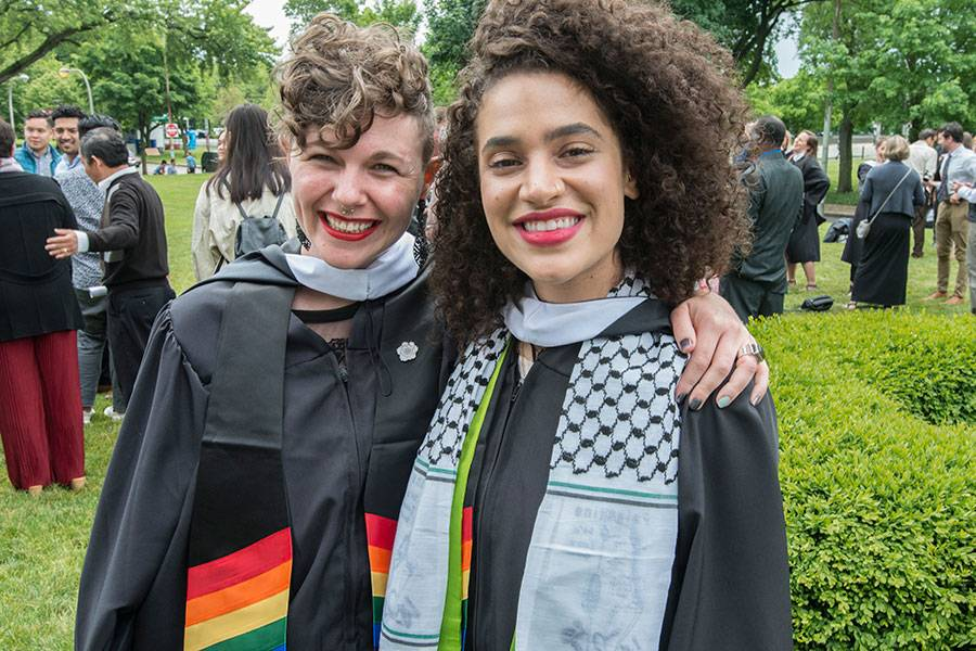 Graduates celebrate after the 2018 Graduation and Hooding Ceremony