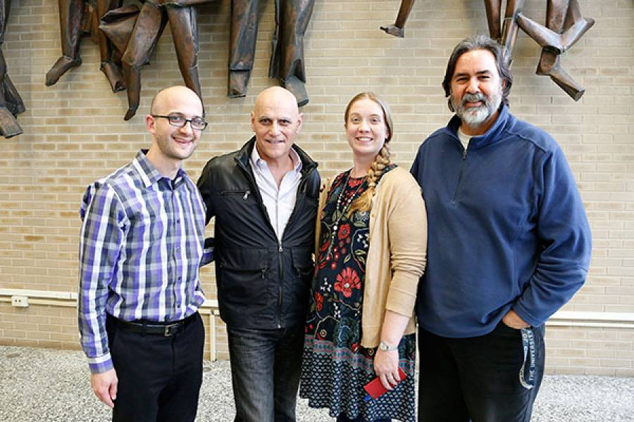 Steven C. Hayes with lecturers Nicholas Turner, Jancey Wickstrom, and Paul Holmes
