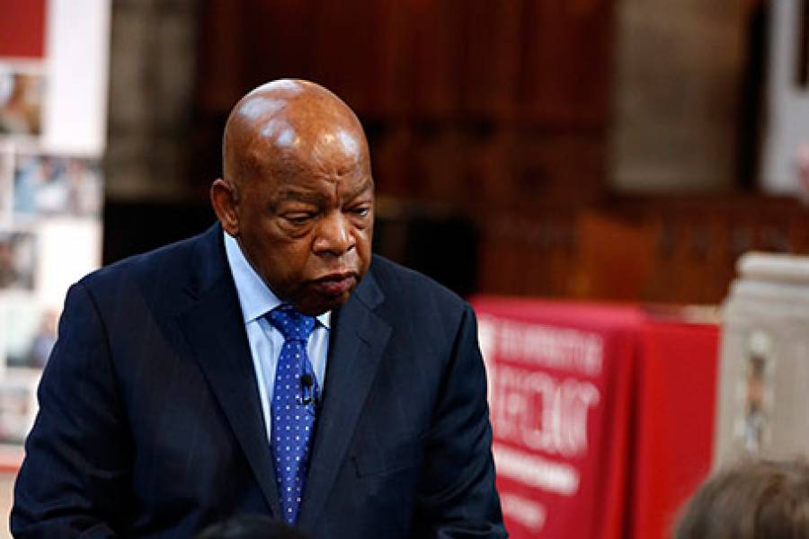 Rep. John Lewis answered questions from audience members