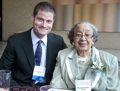Scott Petersen with Betty Butler